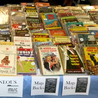 Books for sale at the Los Angeles Vintage Paperback Show, 2011